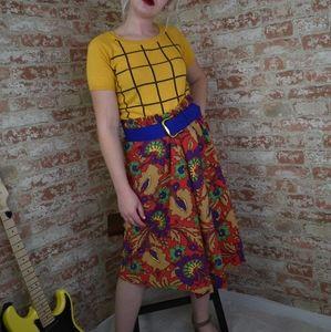Floral Bright Vintage Skirt